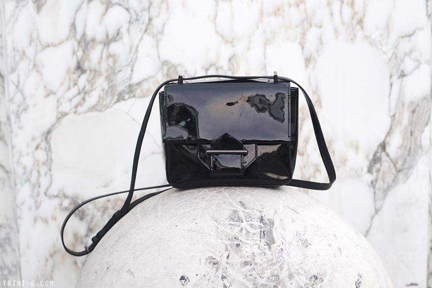 Trini | Reed Krakoff patent black bag