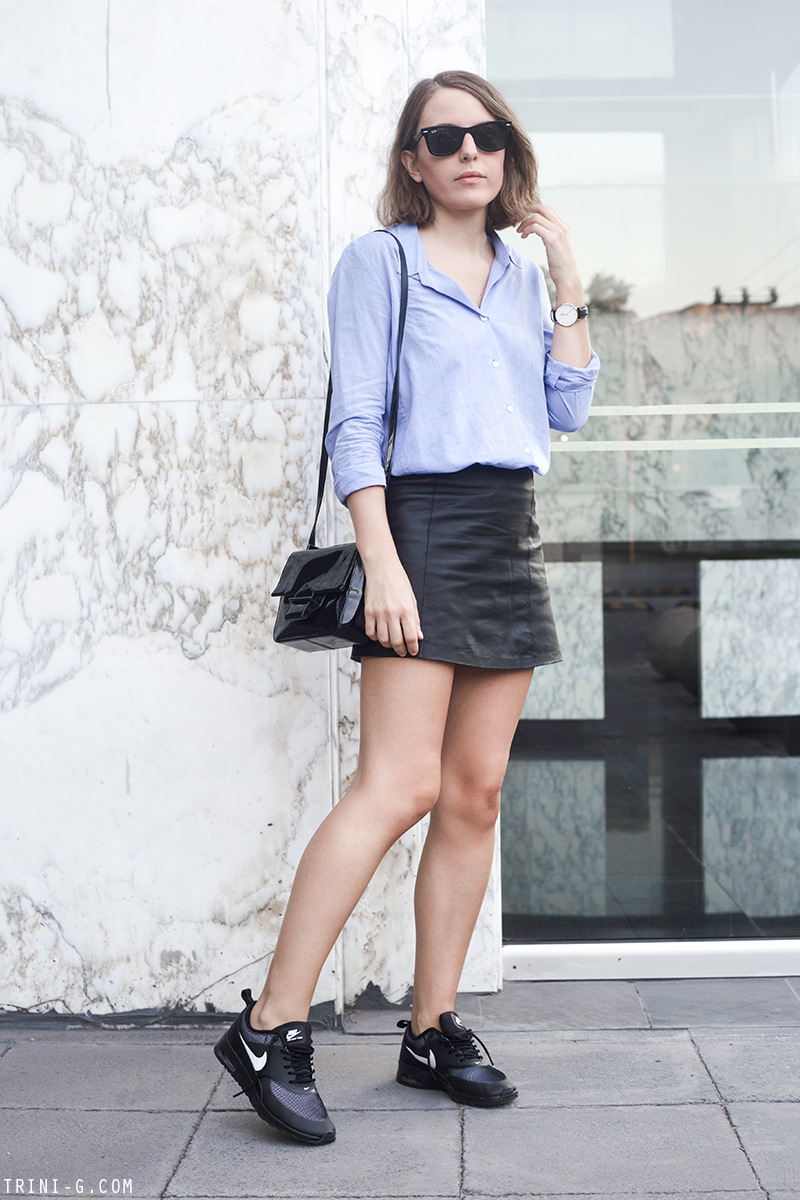 Trini | T by Alexander Wang leather skirt