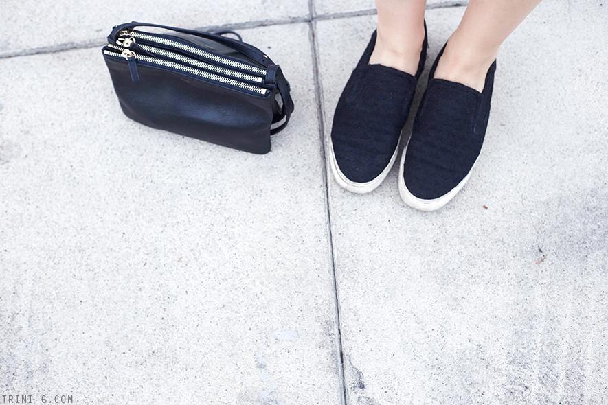 Trini | Céline trio The Row for Superga navy sneakers