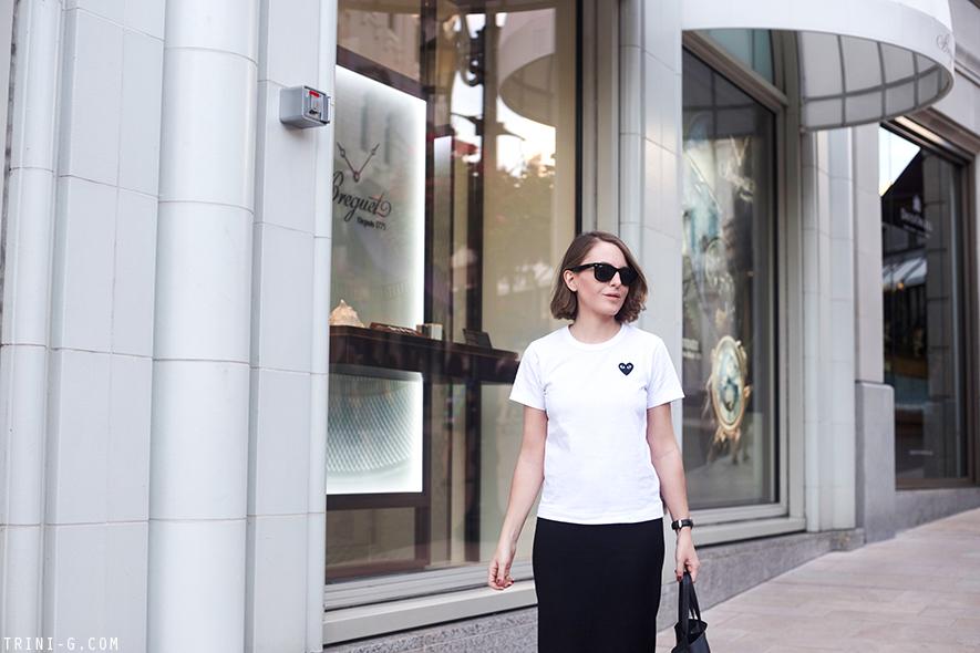 Trini | PLAY Comme des Garçons white tshirt