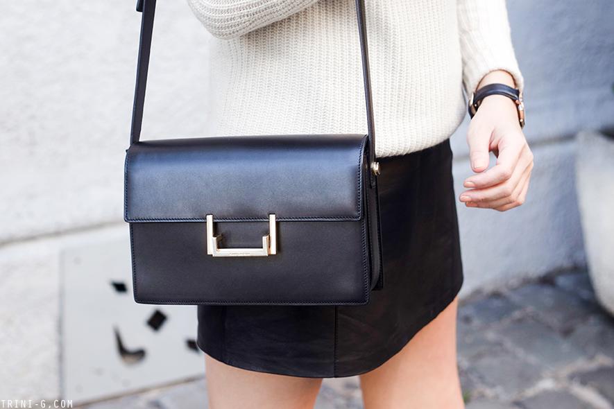 Trini | T by Alexander Wang leather skirt Saint Laurent Lulu bag