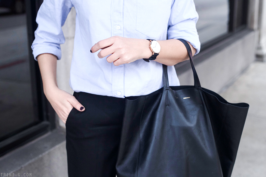 Trini | Celine cabas bag Daniel Wellington watch