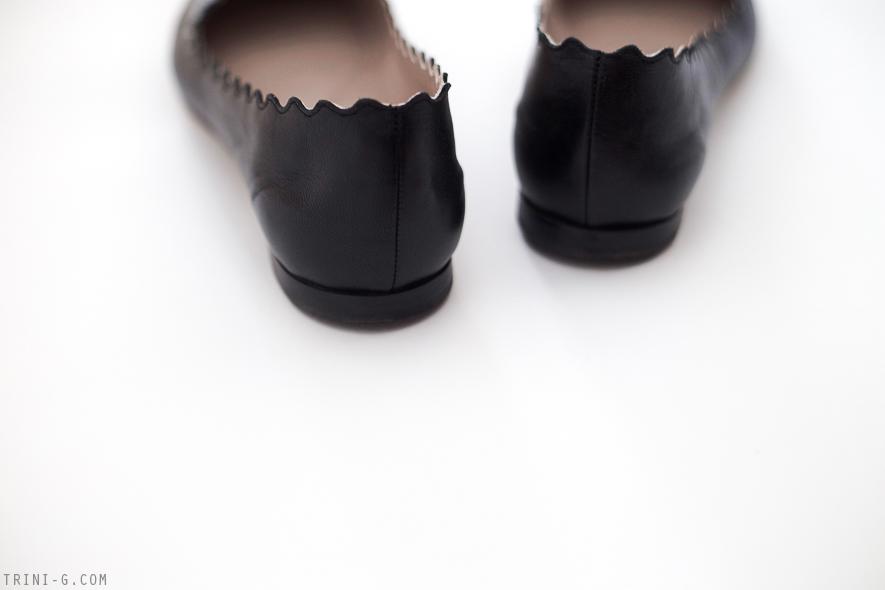 Trini blog | Chloé black scalloped Lauren flats