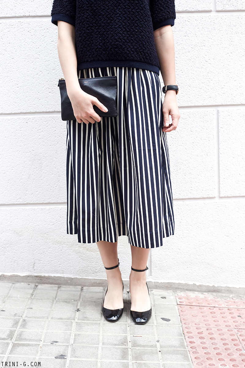 Trini | J.Crew striped skirt Valentino tango shoes