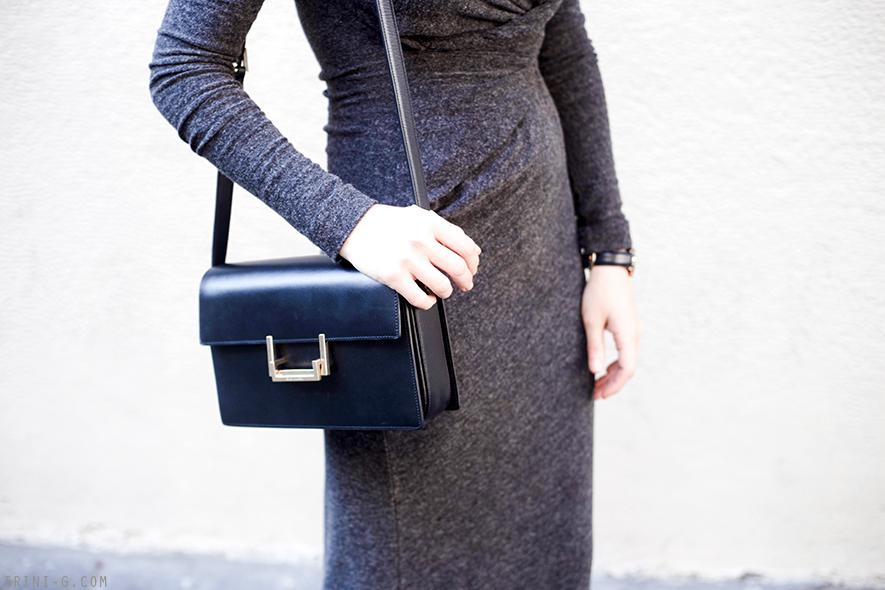 Trini | Saint Laurent Lulu bag T By Alexander Wang Long Gray Dress