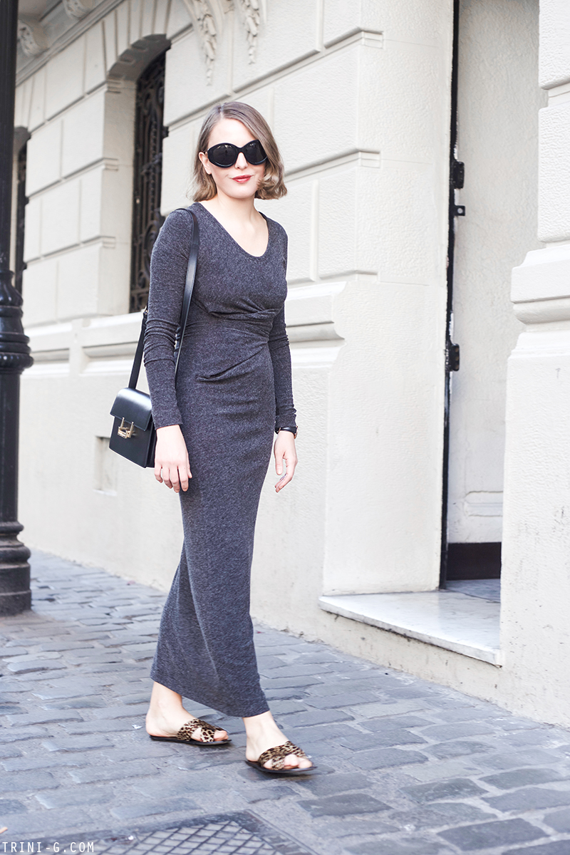 Trini | T By Alexander Wang Long Gray Dress