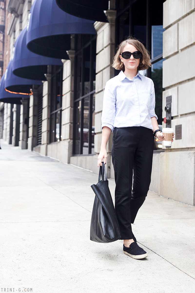 Trini | Club Monaco shirt The Kooples trousers