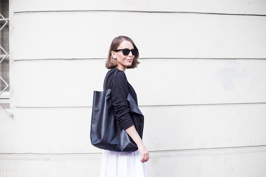 Trini | Equipment Sloane sweater  MaxMara skirt