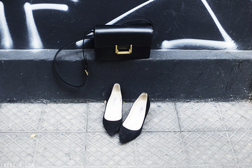 Trini | Jimmy Choo Aza heels and Saint Laurent lulu bag