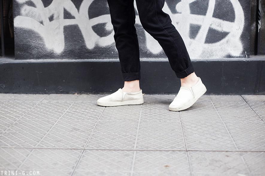 Trini | Topshop dungarees Rag & Bone slip on sneakers