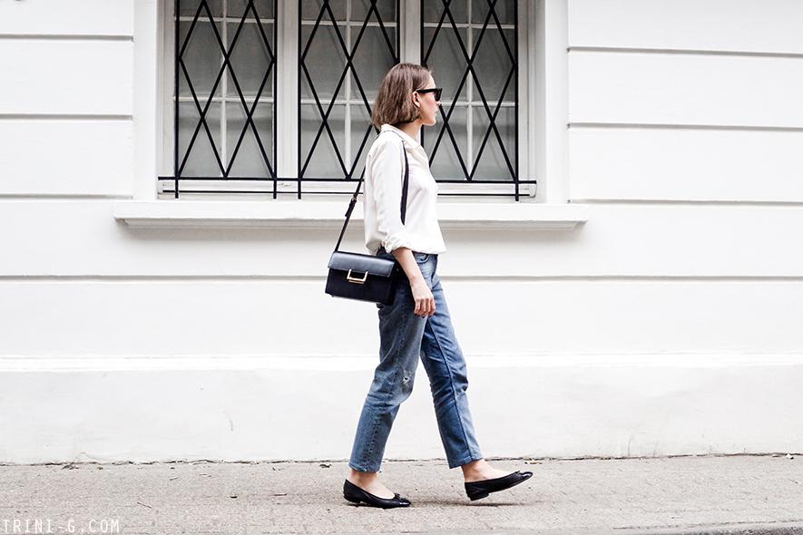 Claudie Pierlot boyfriend jeans Chanel flats