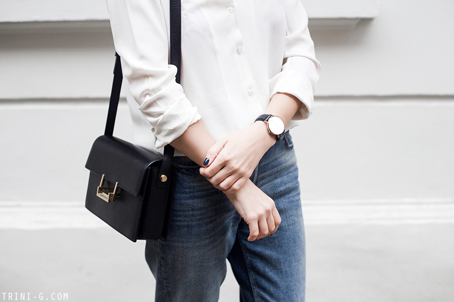 Trini | Daniel Wellington watch Saint Laurent Lulu bag