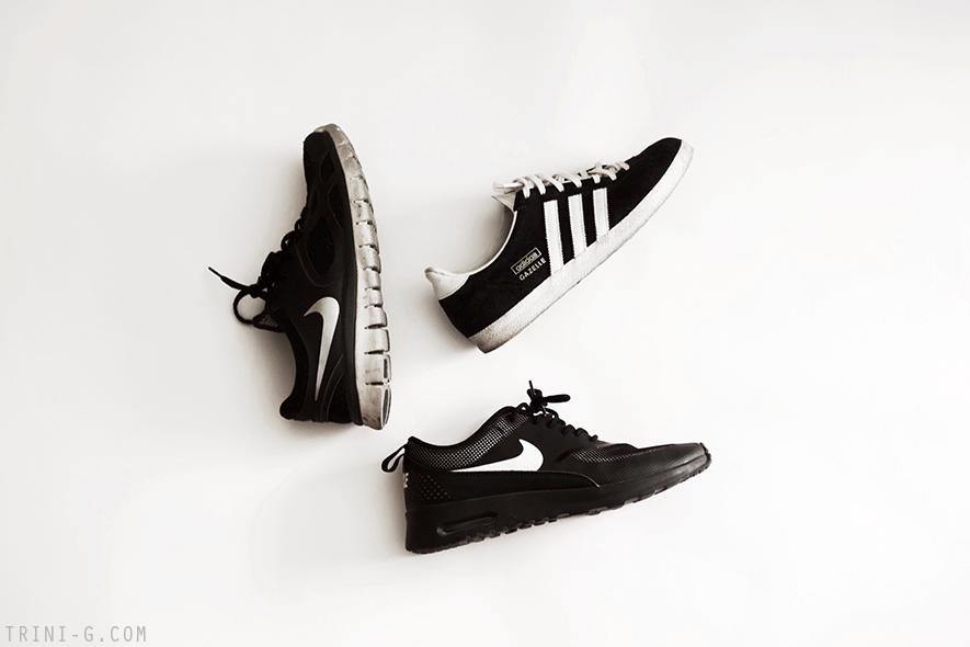 Trini blog |black and white sneakers