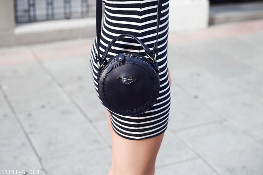 Trini | T by Alexander Wang striped dress Carven bag