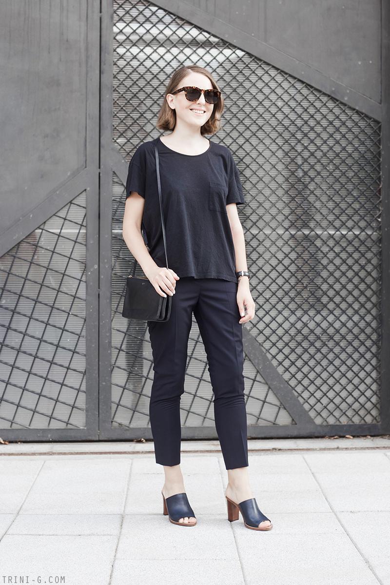 Trini | J Crew mules Céline sunglasses