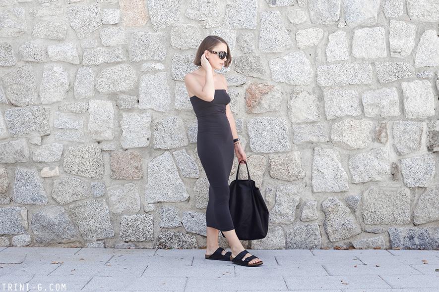 Trini | Wolford dress Birkenstock sandals