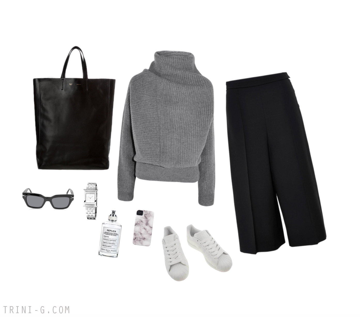 Trini blog | Acne Studios sweater Adidas Superstar sneakers