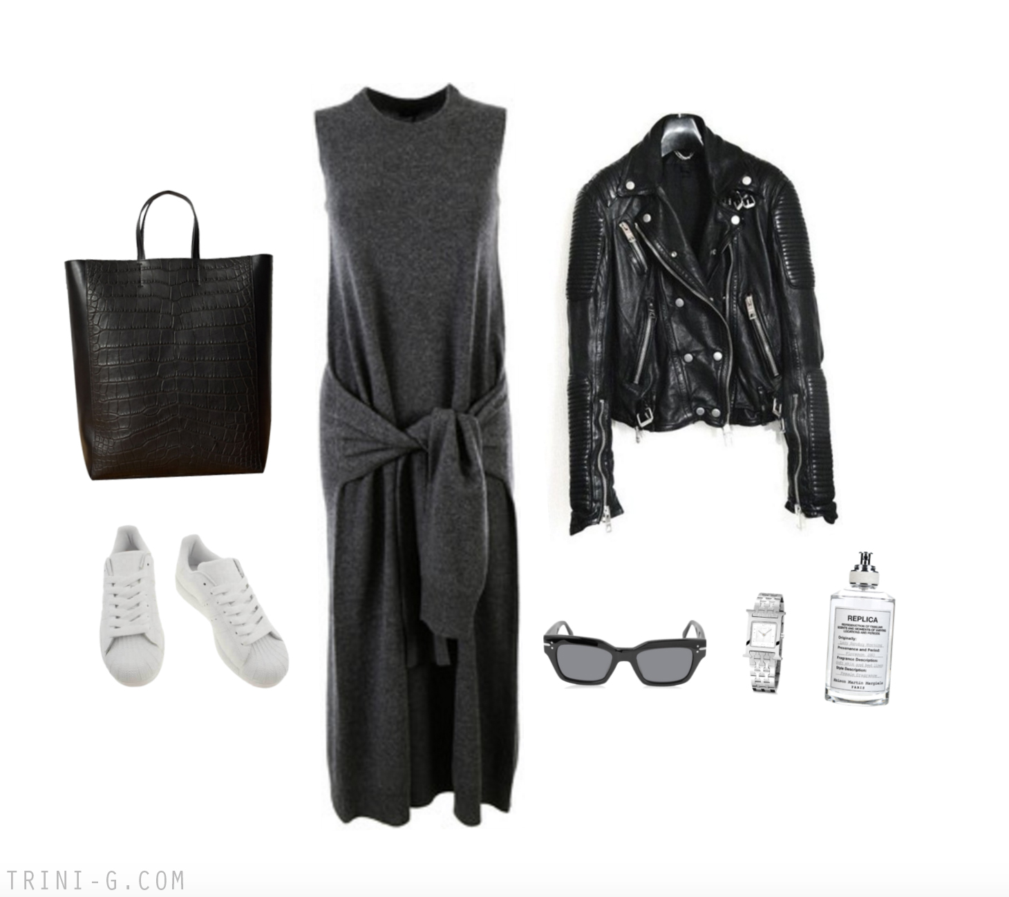 Trini blog|Joseph dress Adidas sneakers Céline bag