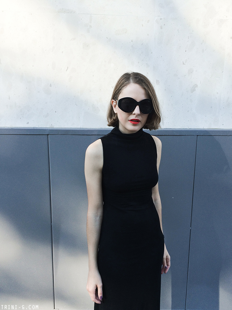 Trini | The Reformation black dress
