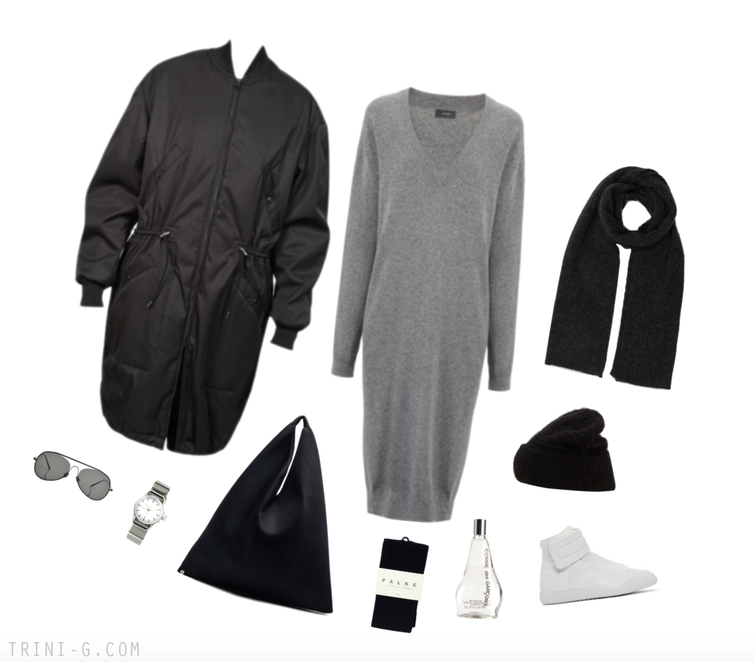 Trini Blog | Joseph sweater dress Maison Margiela sneakers
