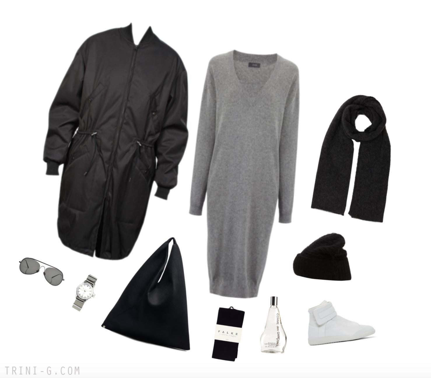Trini Blog | Joseph sweater dress Maison Margiela sneakers