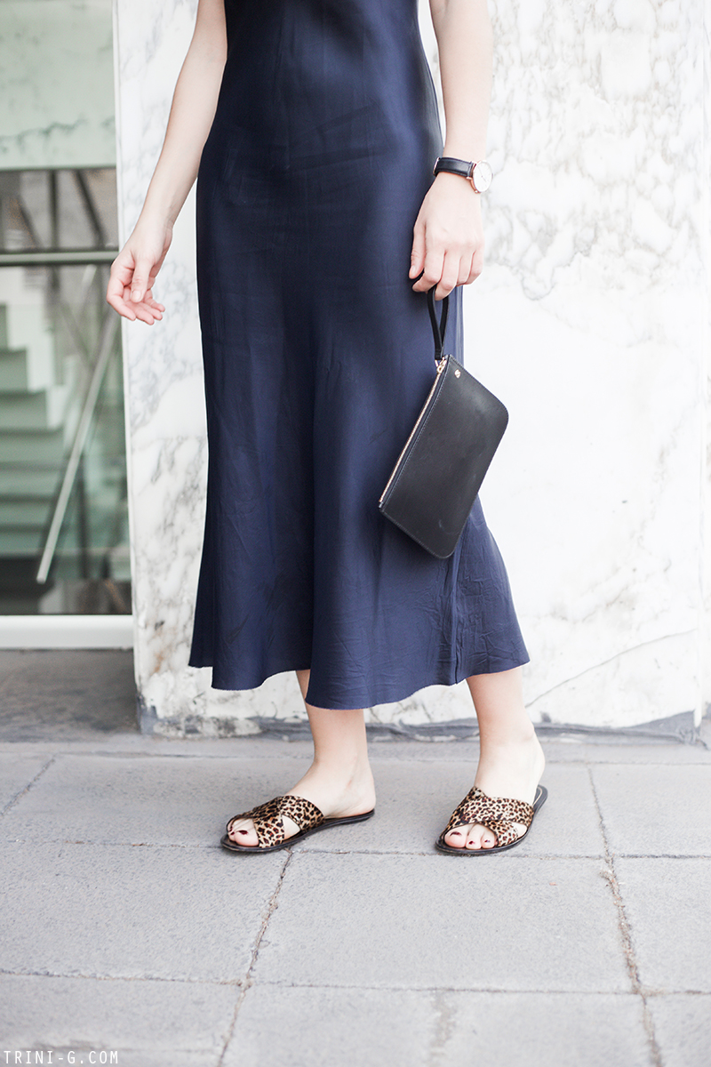 Trini | Organic by John Patrick slip dress J.Crew slides