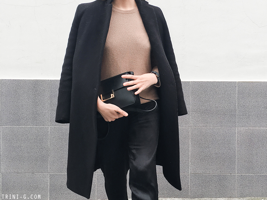 Trini |Balenciaga sunglasses Claudie Pierlot coat