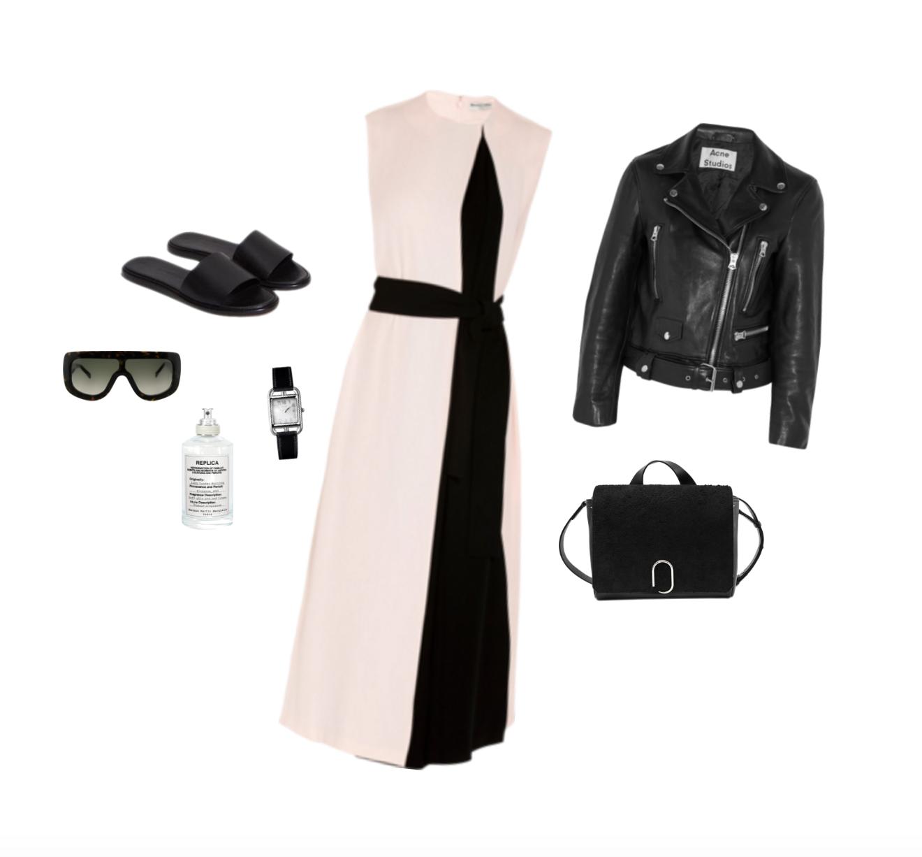 Trini | Balenciaga dress Acne Studios leather jacket