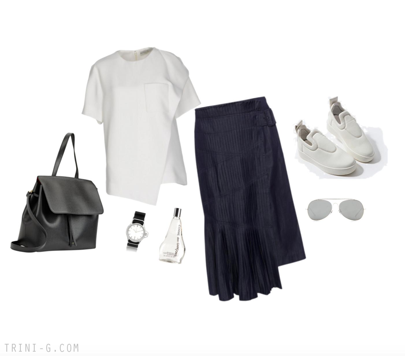 Trini | Tibi skirt Celine sneakers