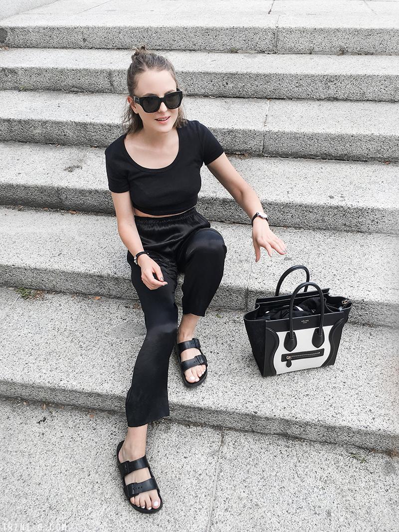 Trini | Balenciaga sunglasses Céline micro luggage