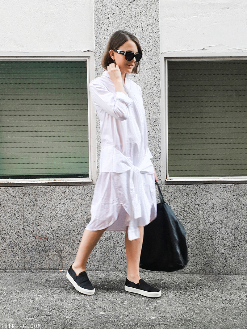 Trini |T by Alexander Wang dress Céline slip on sneakers