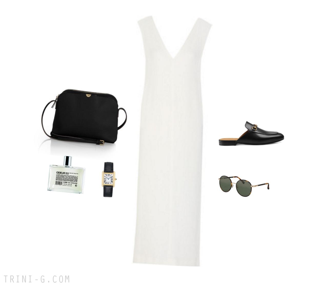 Trini | Joseph dress The Row bag