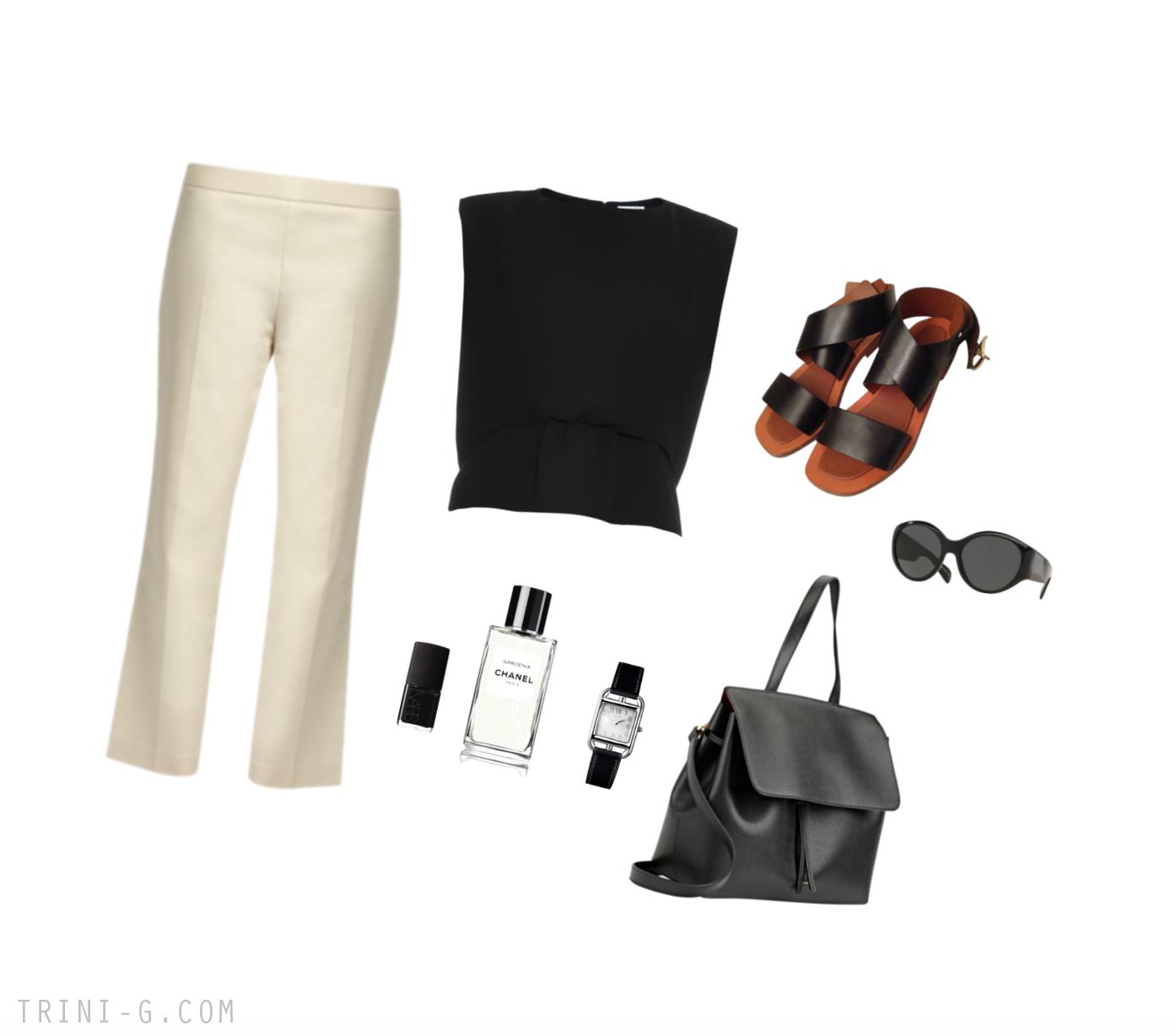 Trini | The Row pants Balenciaga top Mansur Gavriel bag