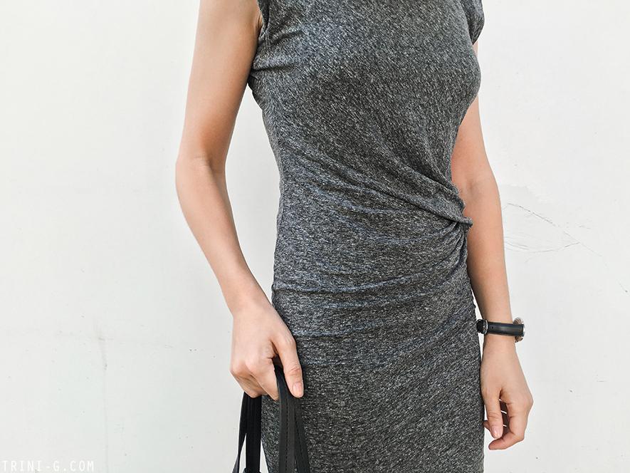 Trini   IRO Athos dress Céline cabas bag Nike Air Max Thea