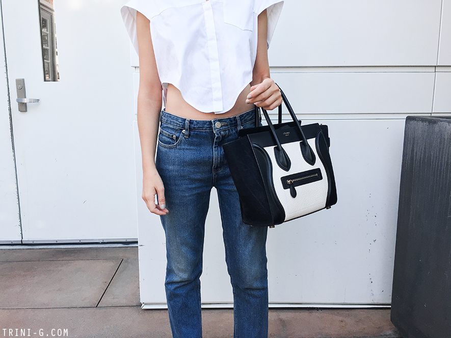 Trini | Balenciaga white top Acne Studios pop jeans