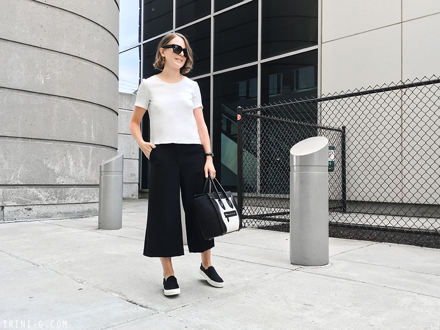 Trini | Theory pants Céline slip on sneakers