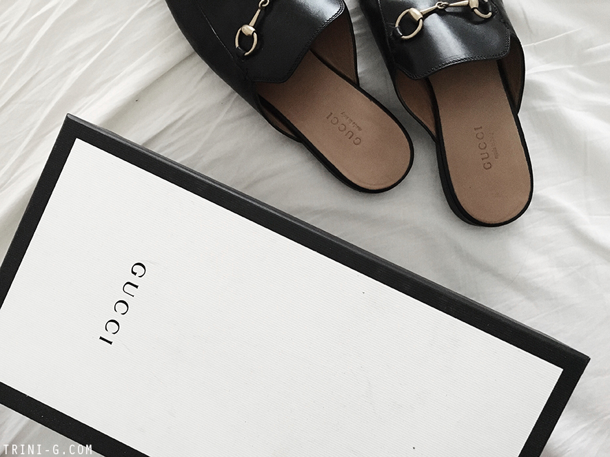 c05a63173 New Gucci Princetown black slippers | Trini
