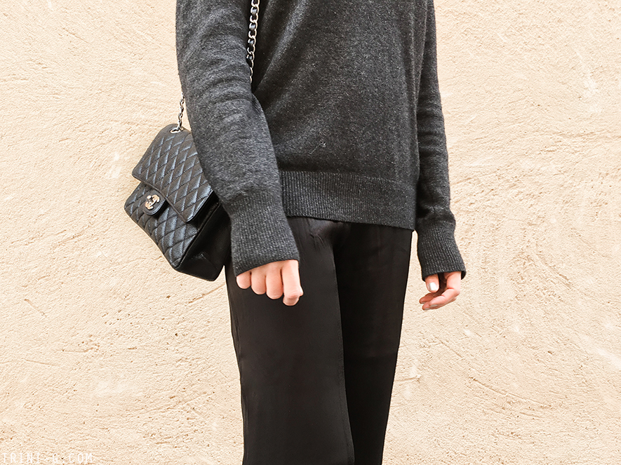 Trini   Equipment sweater Chanel ballet flats