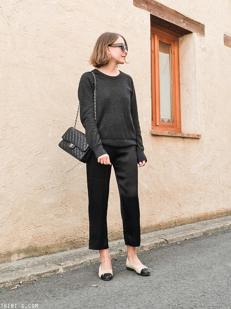Trini | Equipment sweater Chanel ballet flats