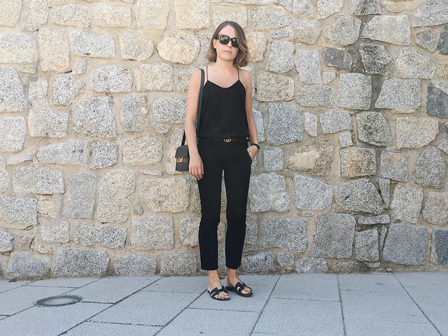 Trini | Tibi camisole Hermes Oran sandals