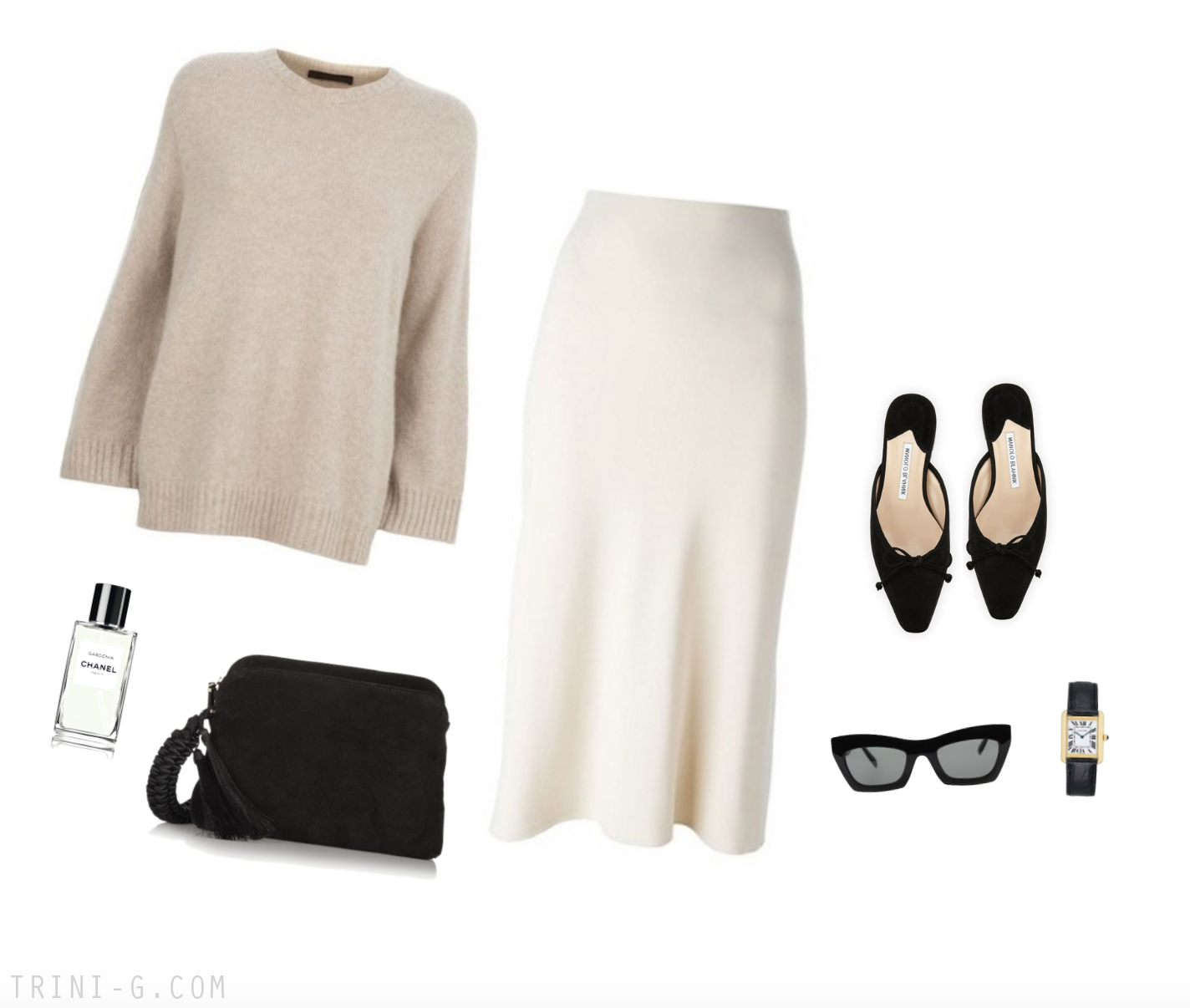 Trini | The Row skirt Céline sunglasses