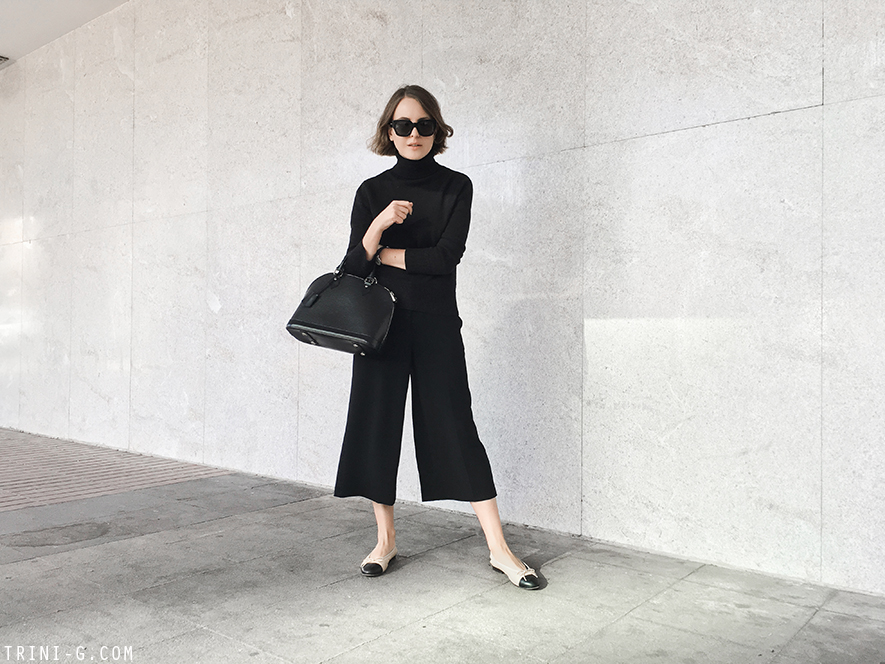 Trini | Theory cropped trousers Chanel flats