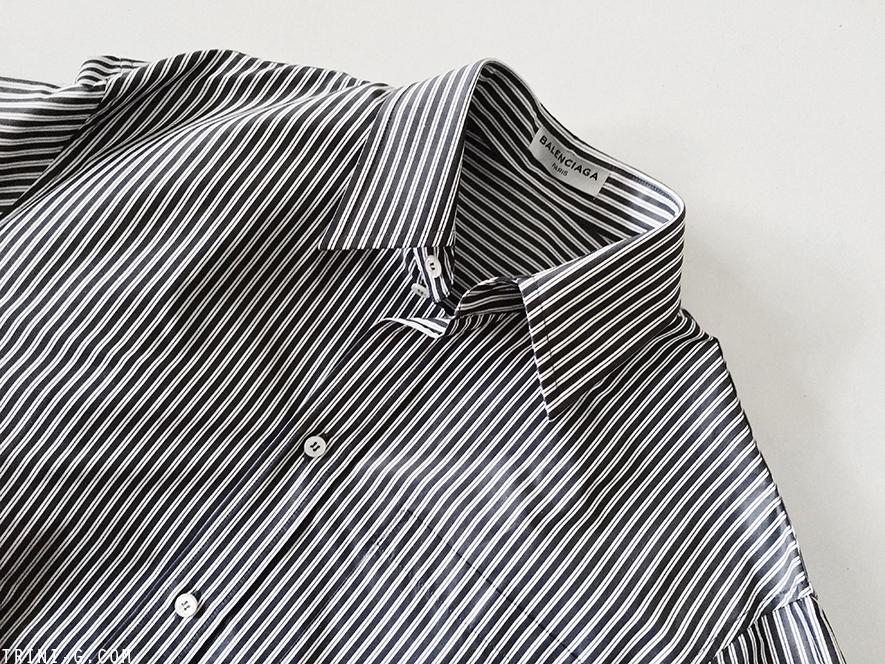 Trini |Balenciaga oversized striped shirt