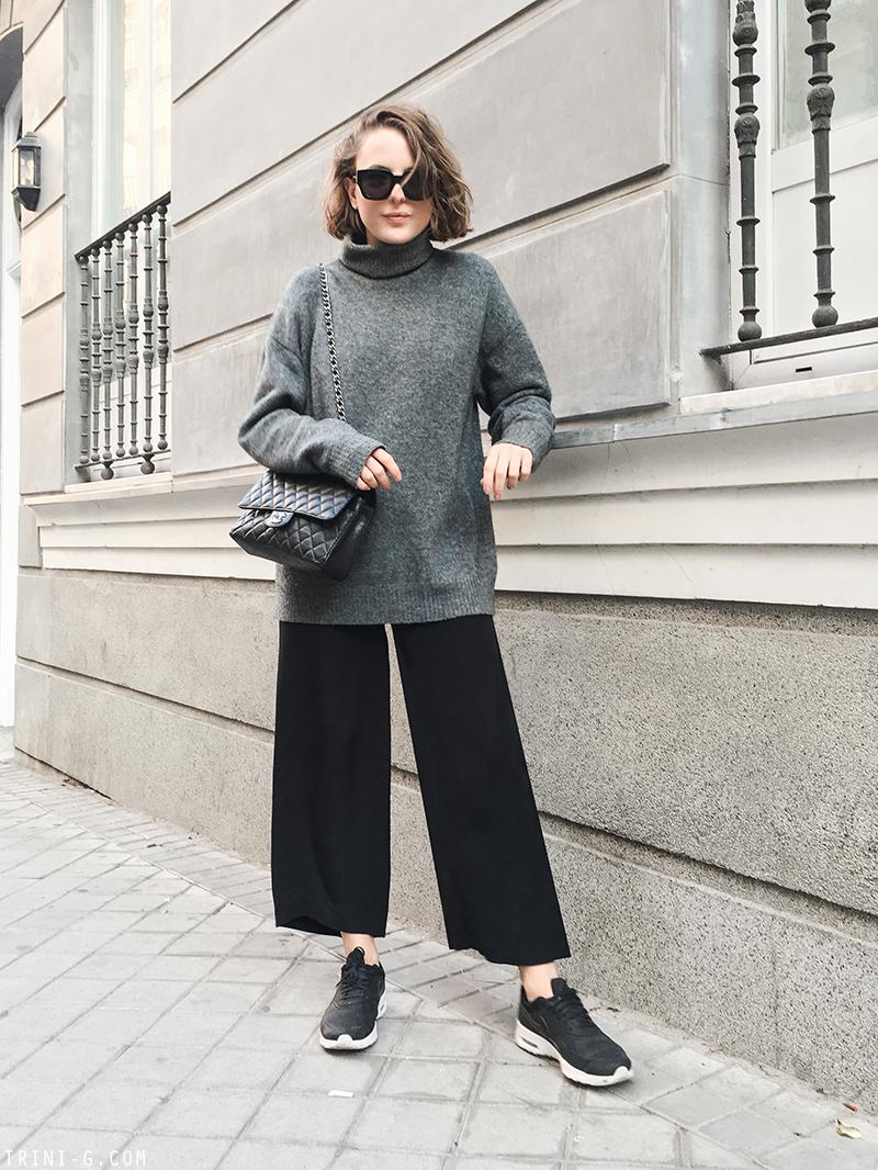 Trini | Balenciaga knitwear Chanel bag