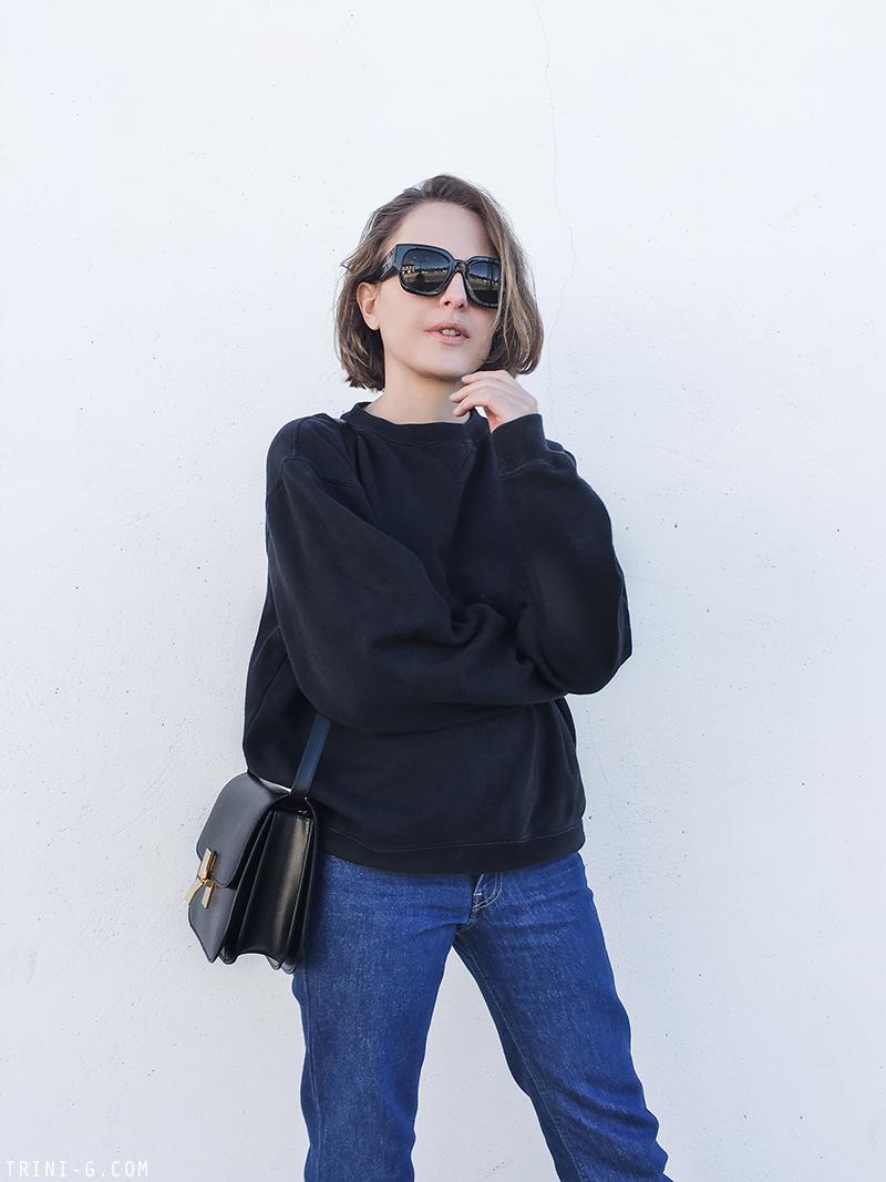Trini | Levis jeans Céline classic box bag