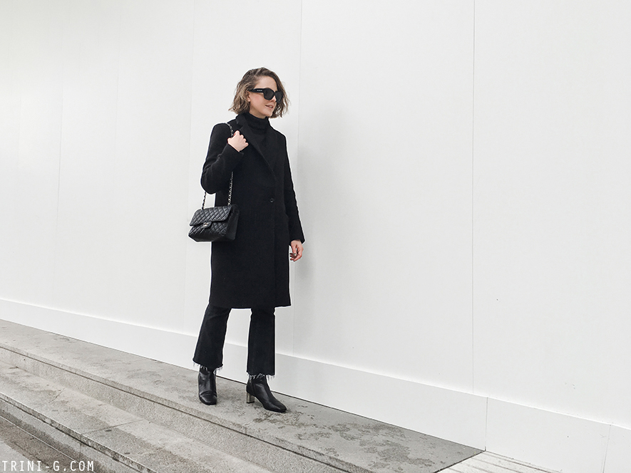 Trini | Claudie Pierlot coat Céline Bam Bam boots