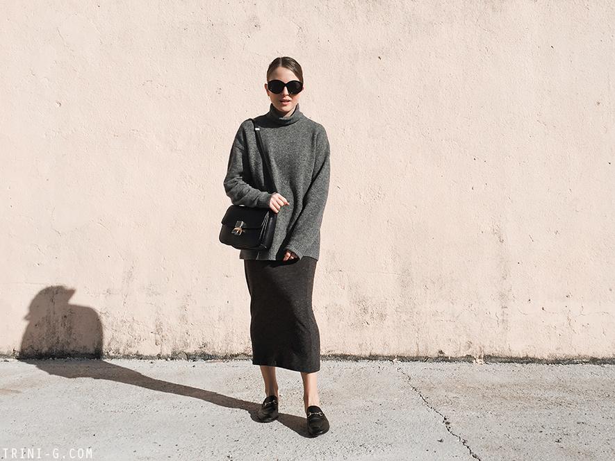 Trini |Balenciaga sweater Gucci Princetown slippers