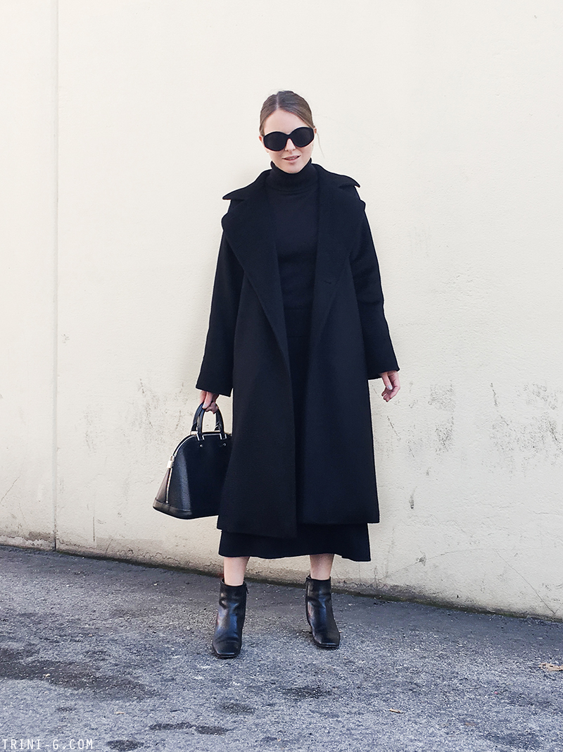 Trini | MaxMara Manuela coat Céline bam bam boots