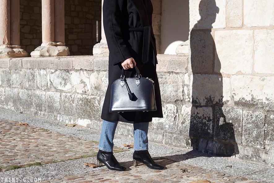 Trini | MaxMara Manuela coat Louis Vuitton Alma Céline bam bam boots