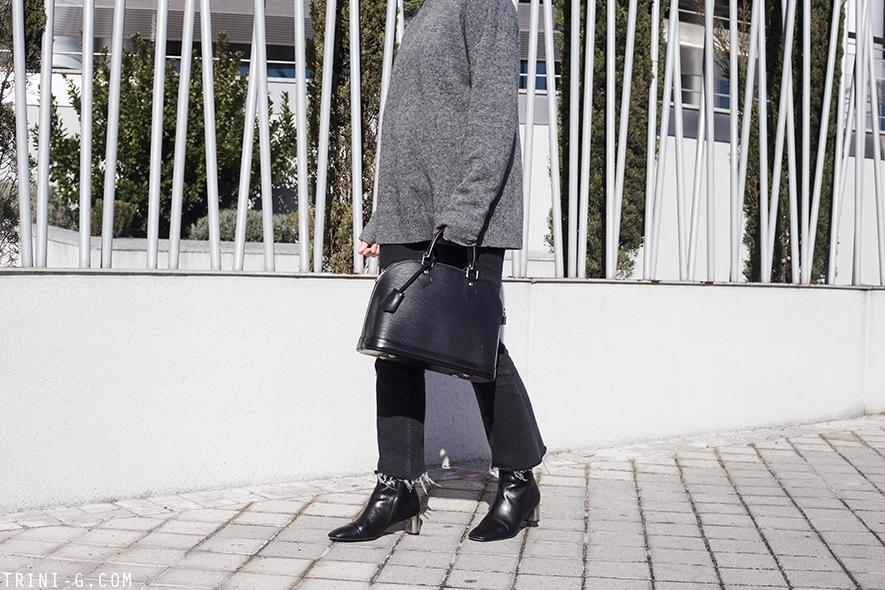 Trini |Balenciaga turtleneck sweater Céline Bam Bam ankle boots